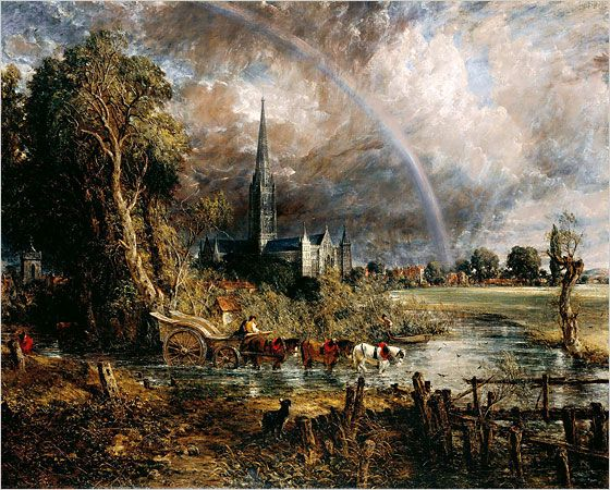 Salisbury Cathedral from the Meadows by John Constable, - Google Search