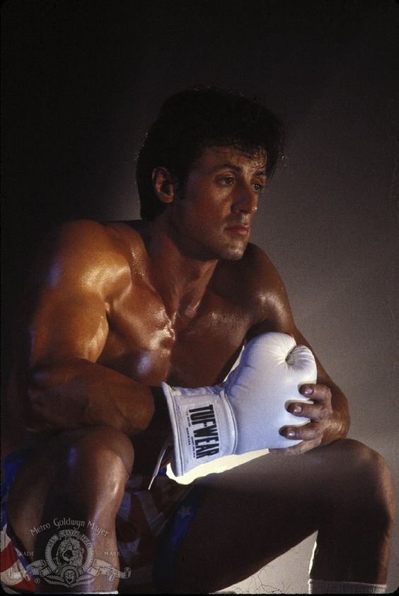 Still of Sylvester Stallone in Rocky IV.. he was hot in his time, aye yo Adrian, we did adrian we did it!