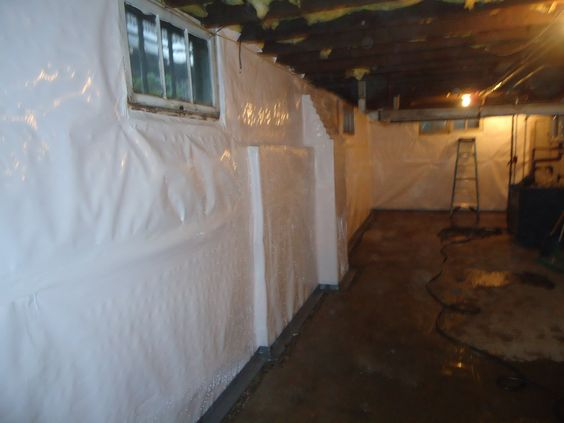 Cleanspace Wall Vapor Barrier And Waterguard Perimeter