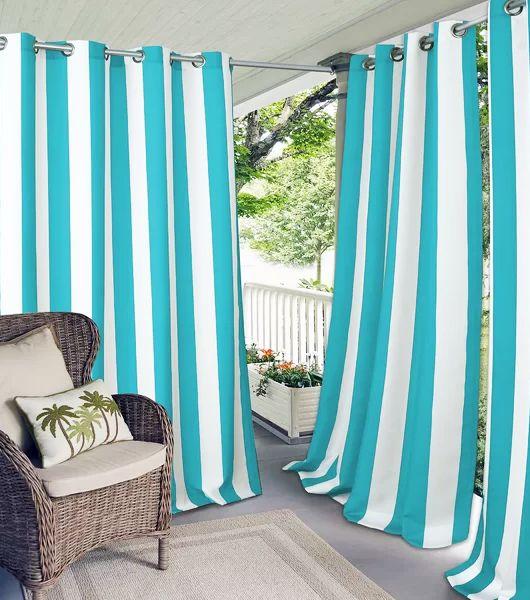 Outdoor Coastal Curtain Panels Outdoor Curtains Indoor Outdoor Curtains Patio Curtains