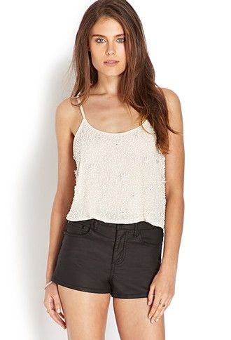 Beaded Floral Crop Top | FOREVER21 - 2000071843