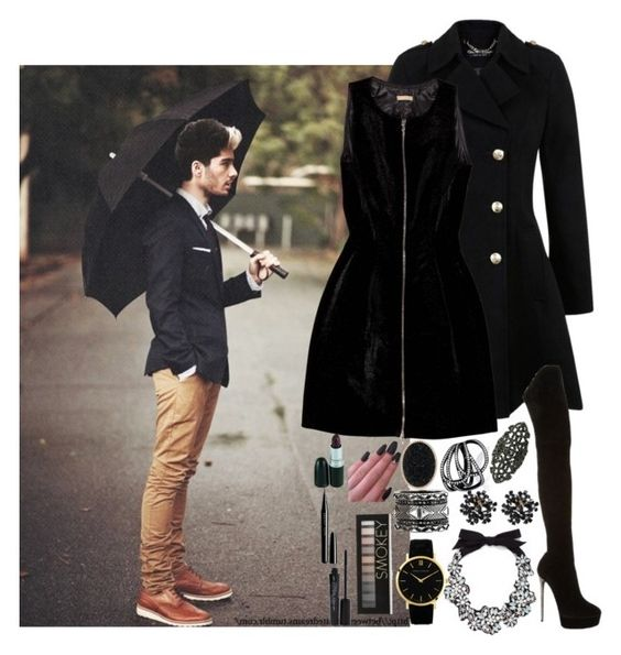 """Date W/H Zayn"" by chap15906248 ❤ liked on Polyvore featuring Miss Selfridge, Alaïa, Casadei, J.Crew, Larsson & Jennings, Repossi, House of Harlow 1960, Karolin, Forever 21 and Smashbox"