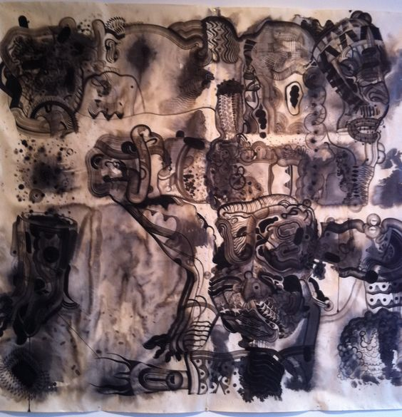 Robert Hardgrave 10'x 10' ink drawing, 2011 (?)