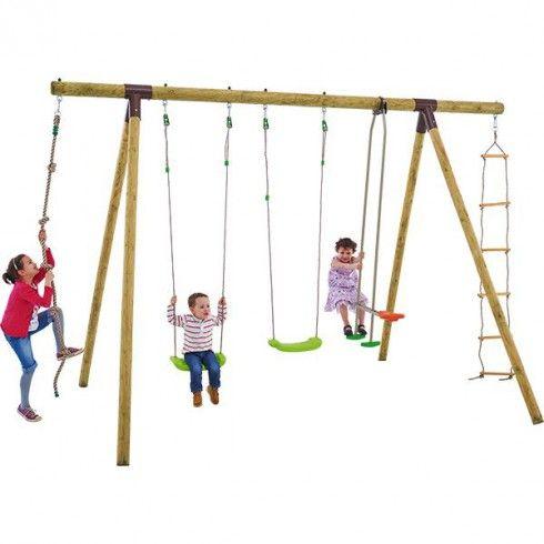 Portique bois Trigano 2,50 m. 6 enfants