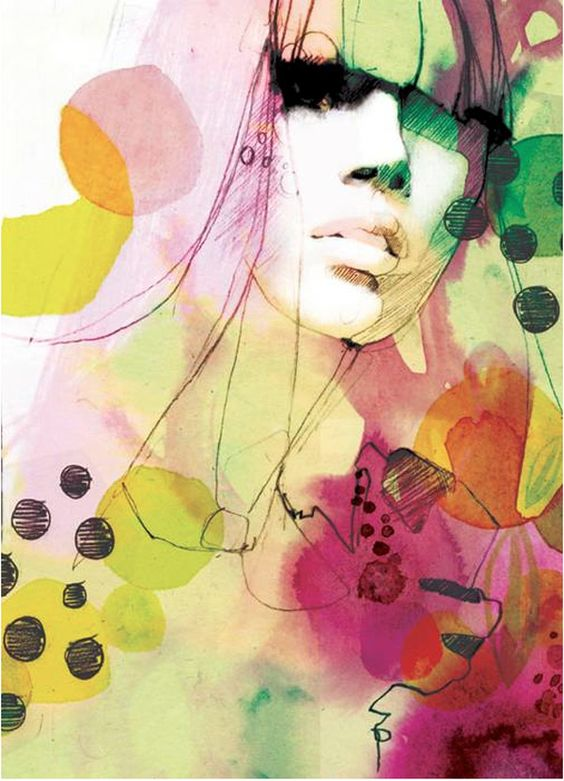 watercolor illustrations by Berlin-based graphic designer and illustrator Ekaterina Koroleva.