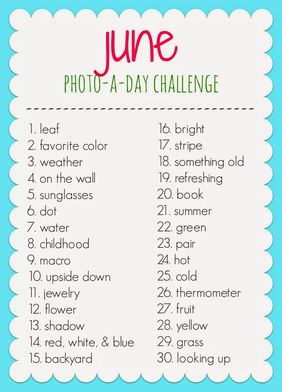 June Photo-a-day Challenge...