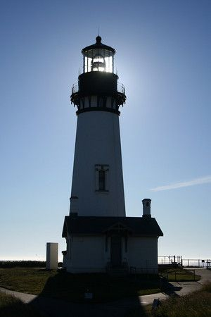 Yaquina Head Lighthouse, Newport, WA-visited June 2008 sun was in just the right place for an interesting picture.