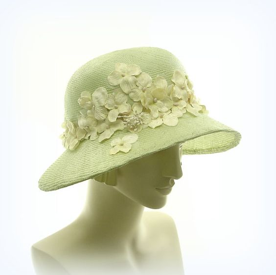 ❤  - Summer Hat  Wide Brim Hat for Women  1920s by TheMillineryShop