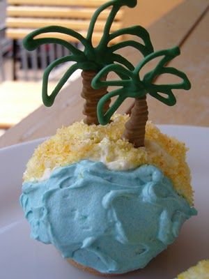 Kokos-Cupcakes mit Zitronen-Buttercreme