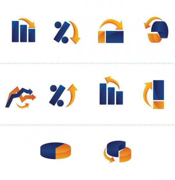 10 Business Graph Vector Icons - http://www.dawnbrushes.com/10-business-graph-vector-icons/