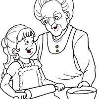 Desenho de Respeito aos mais velhos para colorir