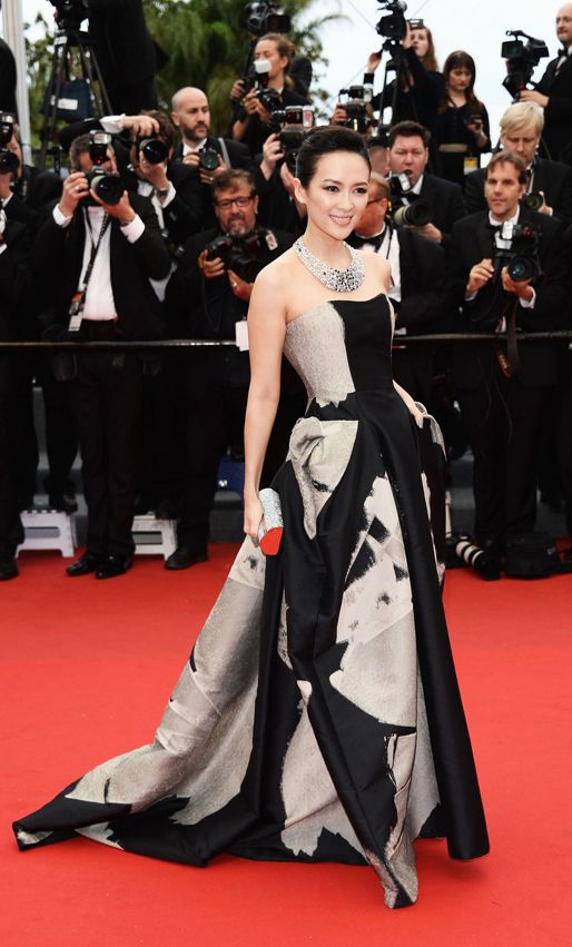 red carpet - Zhang Ziyi in Carolina Herrera at Cannes Film Festival 2013
