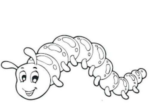 Caterpillar Coloring Page Coloring Pages Printable Coloring