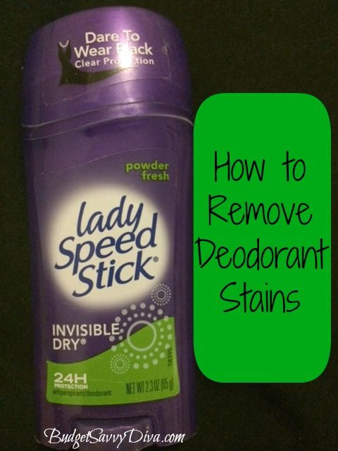 how to get rid of deodorant stains on indian clothing