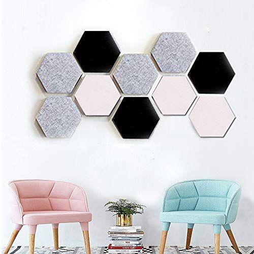 Felt Hexagon Bulletin Board Tiles Set W Sticky Back Pin Board Cork Board Memo Board Of Hexagon In 2020 Stone Wall Interior Design Cork Board Ideas For Bedroom Hexagon