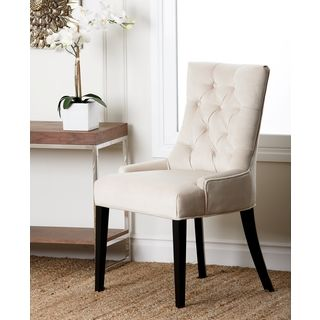 abbyson living napa cream fabric tufted dining chair overstockcom shopping the best