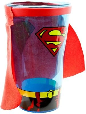 Superman Shield Pint Glass with Cape