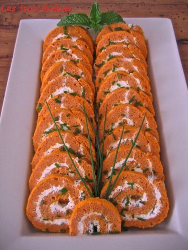 Biscuit roulé salé Tomates, Fromage frais, Fines herbes - du Blog Les Trois Grâces