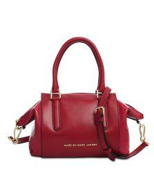 MARC BY MARC JACOBS, Burg Boxer medium zipped bag