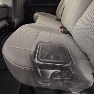What's hiding under your seat? #VSS #RAM #kickeraudio #vehiclespecificsolutions #caraudio #plugandplay #easyinstall #livinloud