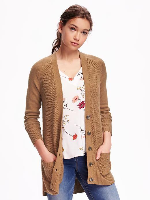Rib-trim Boyfriend Cardigan' on Giftry | Giftry | Pinterest ...