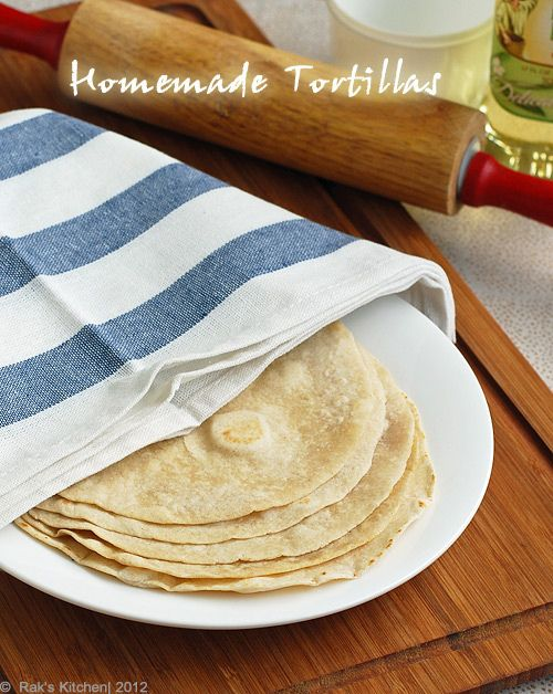 Homemade tortillas.  Danny made 3/17/13 to put our leftover veggies in.  Super easy and really yummy too!