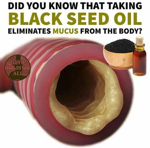 Black Seed Oil eliminates mucus | Discernible | Organic
