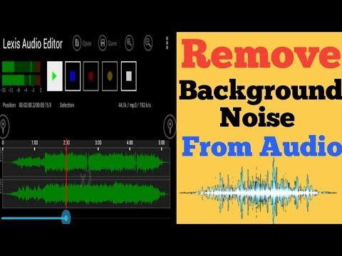 How To Remove Background Noise From Audio Lexis Audio Editor App Youtube Youtube How To Remove Audio