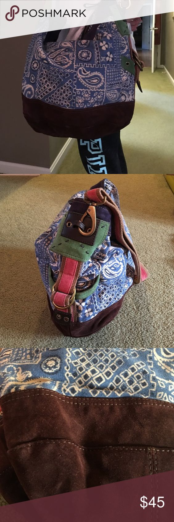 Lucky Brand hobo bag Great over night or book bag, no tips or tears and clean Lucky Brand Bags Hobos