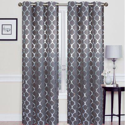 Orren Ellis Hersey Geometric Blackout Thermal Grommet Curtains