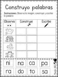 Resultado De Imagen Para Trazos Para Niños De 5 A 6 Años Lectura De Palabras Lectura Y Escritura Actividades De Lectura Preescolar