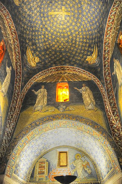 "Mausoleum of Galla Placidia - ""The exquisite Ravenna mosaics"" by @Kathryn Whiteside Burrington"