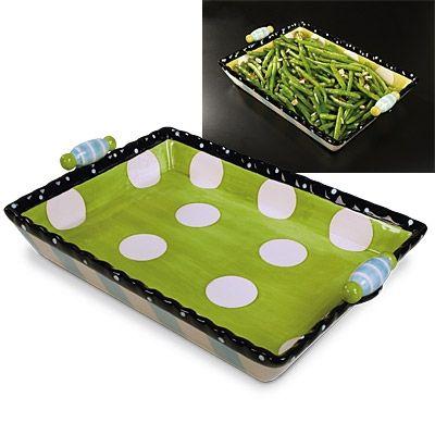 polka dot platter