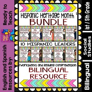 Hispanic heritage month, Reading comprehension and Worksheets on ...