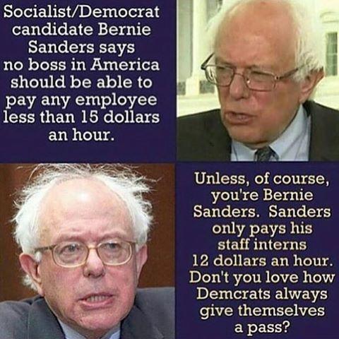 Bernie is such a joke.