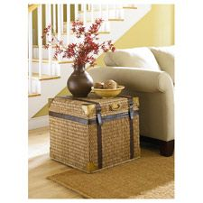 Holder of secret chocolate stash, Christmas gifts, and stolen moments of relaxation? Boracay Small Square End Trunk by La-Z-Boy #MomCave #CBias