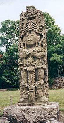 Estela Maya - estela de los Reyes Mayas