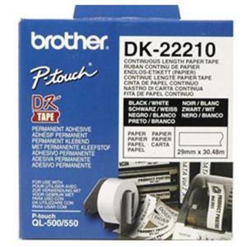#Brother nastro di carta bianca dk-22210  ad Euro 8.56 in #Brother #Nastri