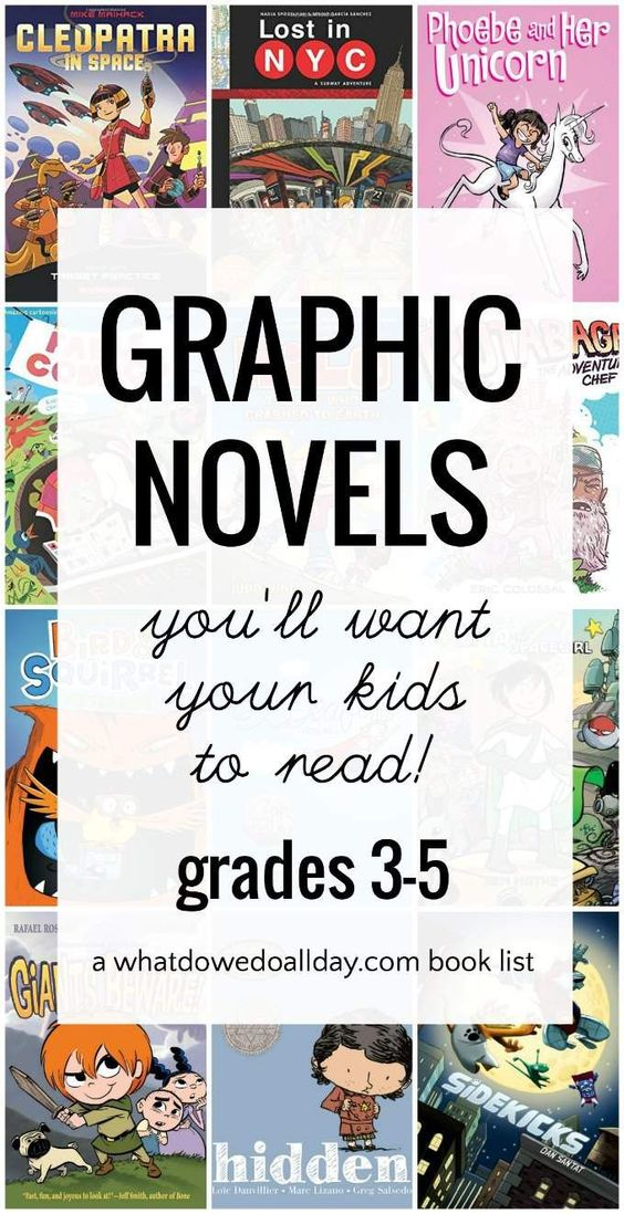 A list of the best graphic novels for kids ages 7 and up.