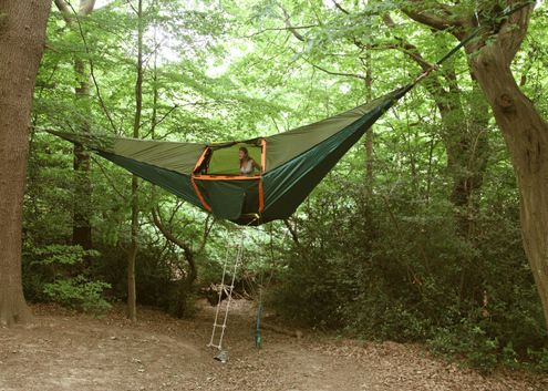 A Tent Suspended from the Trees