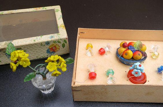 Gablonz Accessoires Obstschale aus Glas by diepuppenstubensammlerin, via Flickr