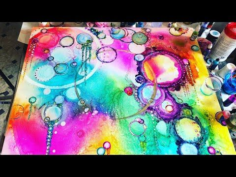 Alcohol Ink Bubbles Youtube Ink Alcohol Bubbles
