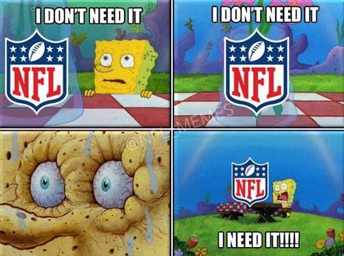 We agree spongebob..we agree! Credit: NFL Memes