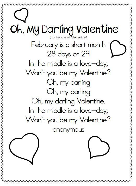 enjoy this little snowman poem for kindergarten students i like to blow up the color poster and use for modeledguided reading i copy the small - Preschool Valentine Songs