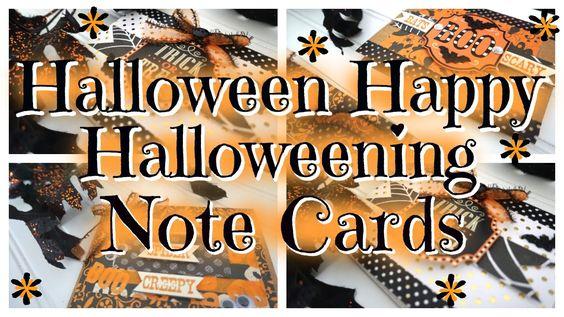 HALLOWEEN HAPPY// DIY HALLOWEEN NOTE CARDS!!!
