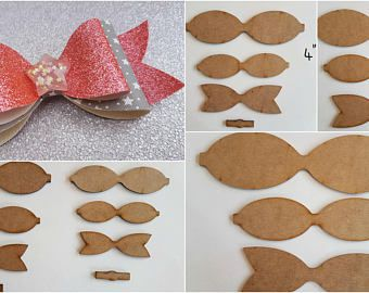 bow template DIY hairbow set Hairbow template plastic bow template