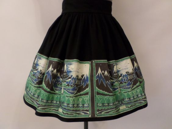 The Lord of the Rings/The Hobbit High Waist Inspired Skirt (58.00 USD) by ComplementsByJo