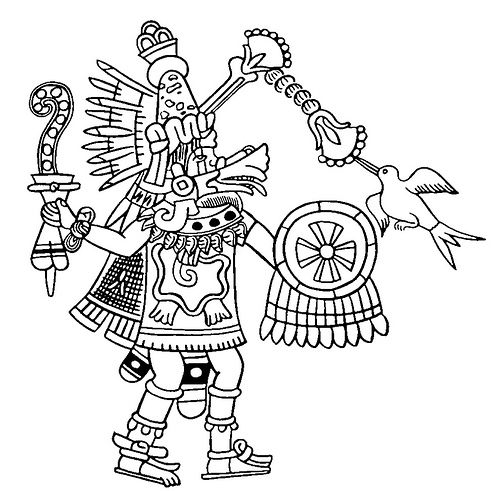 Mexico - Quetzalcoatl as Wind God