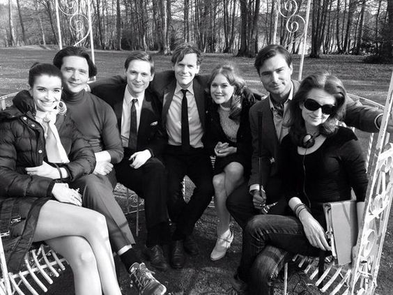 Endeavour 3.1 Ride cast photo - Samuel Barnett and Shaun Evans: