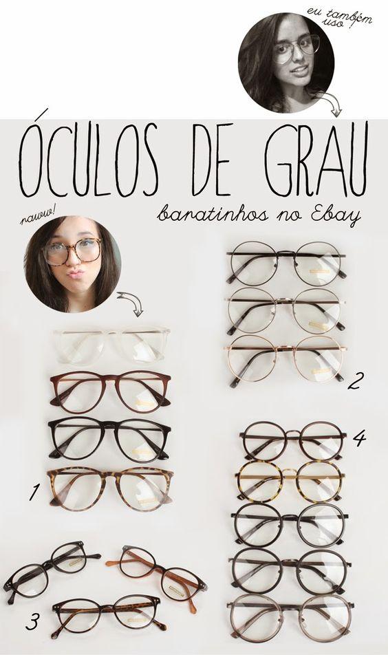 Óculos de grau: modelos baratinhos no Ebay! http://sougarotaproblema.blogspot.com.br/2014/04/oculos-armacoes-baratinhas-no-ebay.html